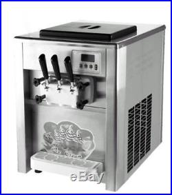 3 Flavor 18L/H Commercial Frozen Ice Cream Cones Machine Soft Ice Cream Maker CE