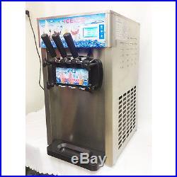 3 Flavor Commercial Frozen Ice Cream Cones Machine Soft Ice Cream Machine