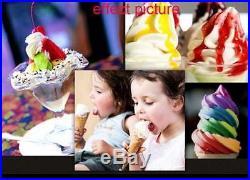 3 Flavor Commercial Frozen Ice Cream Cones Machine Soft Ice Cream Machine 220V T