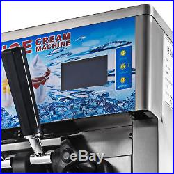 3 Flavor Commercial Frozen Yogurt Soft Ice Cream Cones Maker Machine 110V