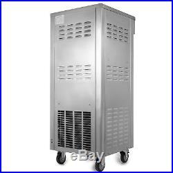 3 Flavor Soft Ice Cream Machine Sorbet Machine 50 Quarts/H Twist Soft Serve
