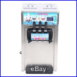 3 Flavors Commercial Small Desktop Soft Ice Cream Making Machine Maker 18L/H