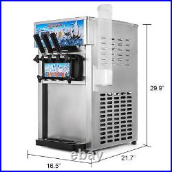 3 Flavors Commercial Soft Ice Cream Machine Frozen Ice Cream MakerSelf Pick Up