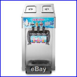 3 Flavors Commercial Soft Ice Cream Machine Ice Cream Cones Self Pick Up