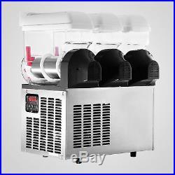 3 TANK SLUSH SLUSHY MAKING MACHINE 45L SLUSHY SMOOTHIE 110V AIR COOLING Hot