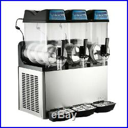 3 Tanks 36L Commercial Frozen Drink Slush Slushy Machine Cold 3 Bowls Slurpee