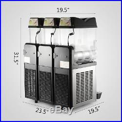 3 Tanks 36L Commercial Frozen Drink Slush Slushy Machine Granita 3 Flavors Iced