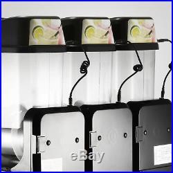3 Tanks 36L Commercial Frozen Drink Slush Slushy Machine Iced Margarita Cold