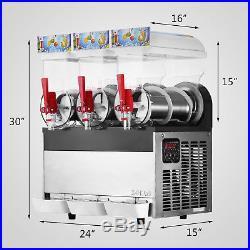 3 Tanks 45L Commercial Frozen Drink Slush Slushy Machine Slurpee Margarita New