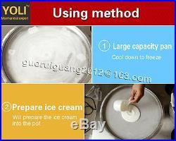 5050cm square pan Thai fried ice cream machine with temperature control panel