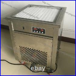 50cm Square Fried Pan Rolled Ice Cream Yogurt Roll Maker Machine with Scraper