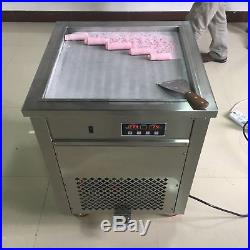 50cm Square Fry Pan Electric Thai Fried Yogurt Ice Cream Roll Machine Maker 110V