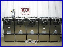 5x Taylor Crown C723-33 Soft Serve Twin Twist Ice Cream Machine 2012 with ADA Cart