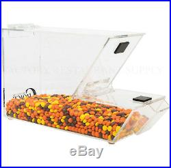 6 PACK Ice Cream Topping Candy Clear Stackable Dispenser Soft Serve Machine