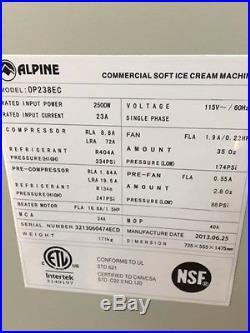 ALPINE Soft Serve Ice Cream Machine Maker 13 months old