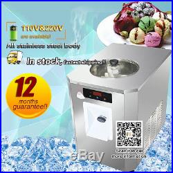 Automatic hard ice cream machine with 6L cylinder, R410a refrigerant, 15L/h