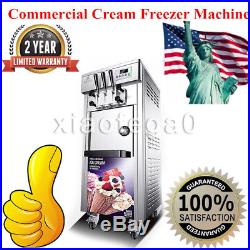 BQL-7225 Commercial Soft Serve Ice Cream Freezer Machine 20-30L/H With 3 Flavors