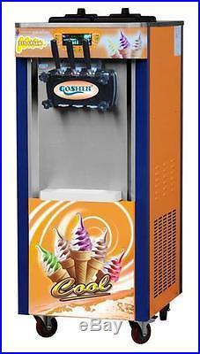 Brand New 3 Head Soft Ice Cream Machine 220v 60hz/ 220v 50hz Free Post by DHL