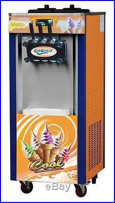 Brand New 3 Head Soft Ice Cream Machine Single Phase 110v 60hz Free Sea Shipping