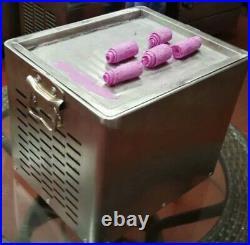 Brand New Mini Ice Cream Roll Maker Pan Tray Machine Rolled Ice Cream UK Seller