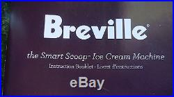 Breville the Smart Scoop Ice Cream Machine Stainless Steel BCI600XL