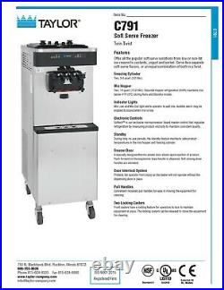 C791Taylor Dual Sided Soft Serve Machine (NEW with warranty)