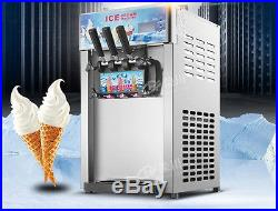 CE 3 Flavor Commercial Frozen Ice Cream Cones Machine Soft Ice Cream Machine