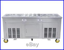 CE Certified Double pans roll Fried/fry Ice Cream making/Maker rolled machine