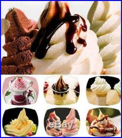 CE Commercial 3 Flavor Soft Ice Cream Machine Soft Ice Cream Cones Maker