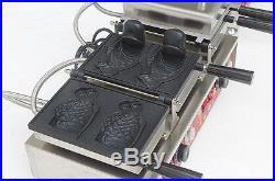CE Commercial Electric Ice Cream Taiyaki Fish Maker Iron Machine Nonstick