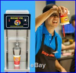 CE DQ Snowstorm Machine Commercial Blizzard Ice Cream Machine Shaker Mix Blender