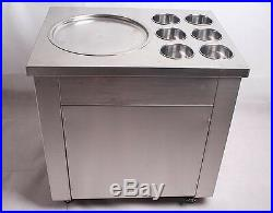 CE Fried Ice Cream machine Ice Cream Maker For Yogurt with 1 Pan Six Buckets