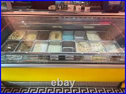 Carpigiani 16 pan Ice Cream/Gelato Display Dipping Cabinet