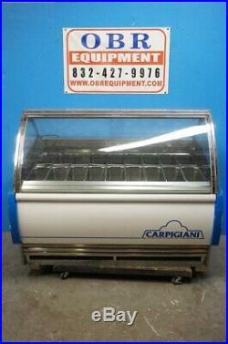 Carpigiani 18 Pan Gelato Display Case Merchandiser Dipping Cabinet Model G-9
