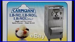 Carpigiani LB 502 G BATCH FREEZER for ICE CREAM, GELATO, ITALIAN ICE