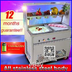 Cheap price, Thai fried ice cream machine for fruit, milk, yogurt, ice, 110V/220V