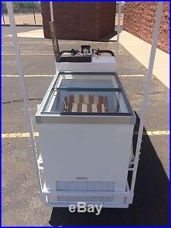 Cold Drinks/Beer/Ice Cream E- Bike Cart (New). Can drive up to 29MPH
