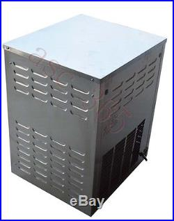 Commercial 2Head Table Top Hard Ice Cream Machine 110V 2Flavors Frozen Ice Cream
