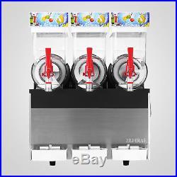 Commercial 3X15L Frozen Drink Slush Slushy Making Machine Smoothie Maker