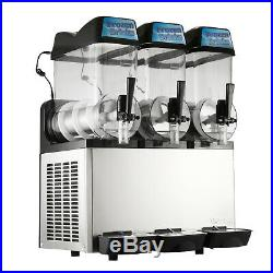 Commercial 3 12L Frozen Drink Slushy Making Machine Smoothie Maker 110V Juice