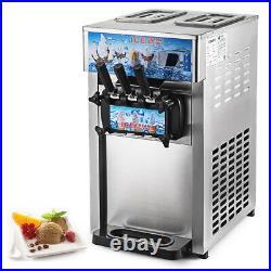 Commercial 3 Flavors Soft Ice Cream Machine Ice Cream Maker Ice Cream Cone 110V