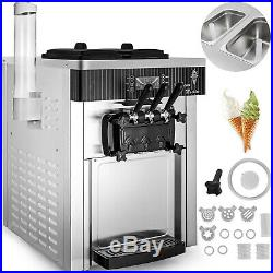 Commercial Countertop Soft Ice Cream Machine Sta. Steel Wide Application 2200W