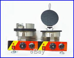 Commercial Electric Ice Cream Cone Maker Machine Dual Baker 110V NEW Arrival