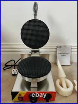 Commercial Electric Nonstick Regular Ice Cream Waffle Cone Maker Machine