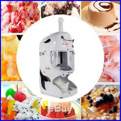 Commercial Electric Snow Ice Shaver Ice Cream Shaving Maker Machine Crusher BEST