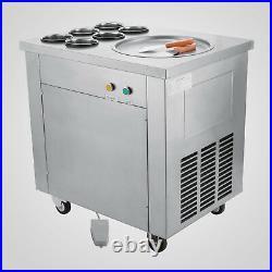 Commercial Fried Ice Cream Machine 304 Stainless Steel Frozen Yogurt Roller