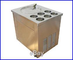 Commercial Fried Ice Cream Machine, Ice Crean Roll Making Machine 220V