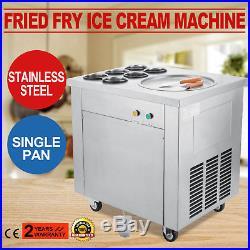 Commercial Fried Ice Cream Machine, Ice Crean Roll Making Machine 740W 110V
