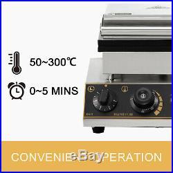 Commercial Heart Shaped Ice Cream Waffle Maker 50300 Iron Baker Machine 05min