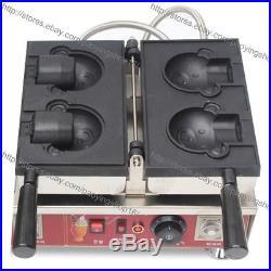 Commercial Nonstick Electric Ice Cream Taiyaki Bear Waffle Maker Baker Machine